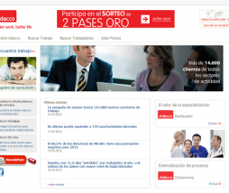 Captura de la web de Adecco