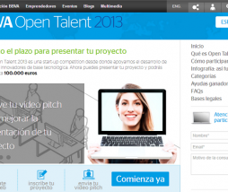 Página web de BBVA OPen Talent