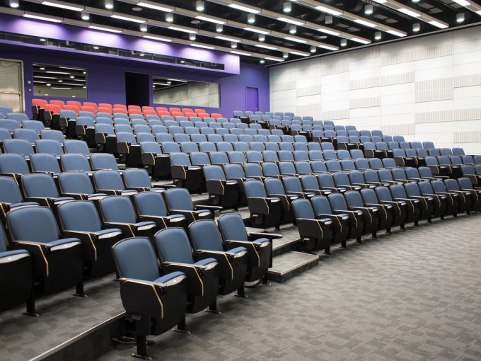 Interior of a contemporary lecture theater in university campus