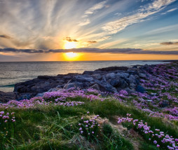 A beautiful sunset at Tangasdale Beach - Outer Hebrides